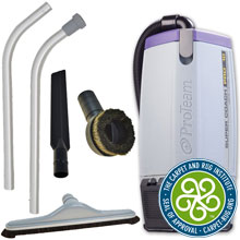 ProTeam Super Coach Pro 10 Backpack Vacuum w/ Hard Surface Tool Kit D