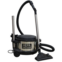 Pullman-Holt 390ASB HEPA Dry Low Profile Canister Vacuum w/ Tool Kit
