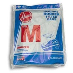 Hoover [4010037M] Vacuum Cleaner Bags - 3 Pack - Type M