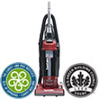 "QuietClean Dust Cup HEPA Upright Vacuum - 13"" Cleaning Path"