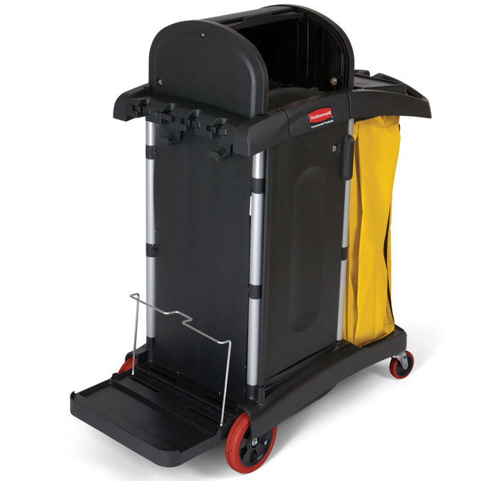 Rubbermaid [9T75] HYGEN™ Microfiber High Security Cleaning Cart