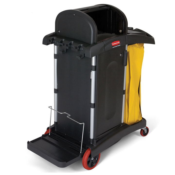Rubbermaid HYGEN Microfiber High Security Cleaning Cart