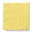 "Rubbermaid [Q610] HYGEN™ Microfiber Bathroom/Fixtures Cloth - Yellow - (12) 16"" x 16"" Cloths"
