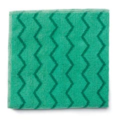 Rubbermaid [Q620] HYGEN™ Microfiber All-Purpose Cleaning Cloth - Green - (12) 16