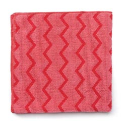 Rubbermaid [Q620] HYGEN™ Microfiber All-Purpose Cleaning Cloth - Red - (12) 16