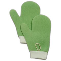 Rubbermaid [Q650] HYGEN™ Microfiber All Purpose Cleaning Mitt w/ Thumb - Green