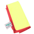 Unger [MF40Y] SmartColor Heavy-Duty Microfiber MicroWipes 4000 - Yellow w/ Red Stripe - 10 Towels UNGMF40Y