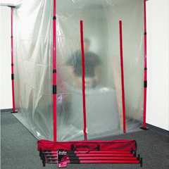 Dust Shield Pro Pole Kit Area Containment Janitorial