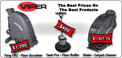 Viper Fang 18c Slider Task-Pro Cleaning Extracting Scrubbing