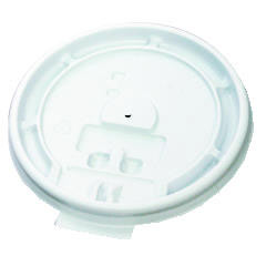 Hot Cup Tear-Tab Lids, 10-20oz, White BWK10-20TABLID