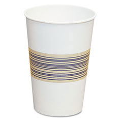 Paper Hot Cups, 12 oz, Blue/Tan BWK12HOTCUP