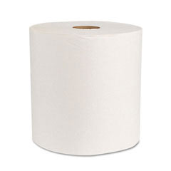 Green Universal Roll Towels, Natural White, 8