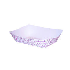 Paper Food Baskets - 1 lb Capacity - 1000 Baskets BWK30LAG100