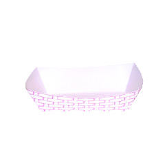 Paper Food Baskets, 2.5lb Capacity, Red/White BWK30LAG250
