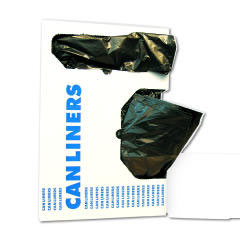 Low-Density Can Liners, 60gal, .65mil, 38w x 58h, Black, 25/Roll BWK3858H