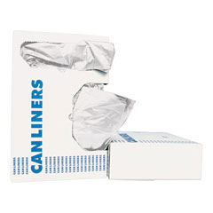 Waste Can Liners, 40-45 gal, 40 x 46, 0.6 mil, White, 25 Bags/Roll BWK4046EXH