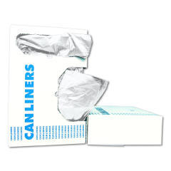 Low-Density Can Liners, 56 gal, 0.6 mil, 43 x 47, White, 25/Box BWK4347EXH