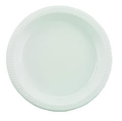 Plastic Plates, 6 Inches, White, Round, 125/Pack BWK6IMPACT