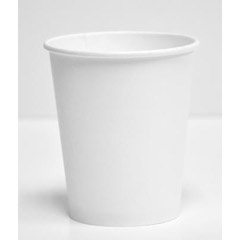Paper Hot Cups, 8oz, White DOP4722
