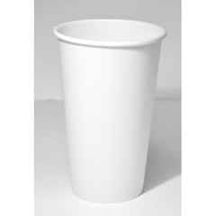 Paper Hot Cups, 16oz, White DOP4755