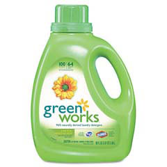 Green Works Natural Laundry Detergent Liquid, Original Scent, 90 oz Bottle CLO30319