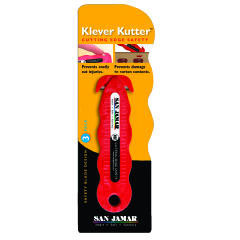 San Jamar Klever Kutter Safety Cutter, 1 Razor Blade, Red