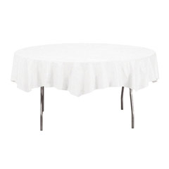 Octy-Round Tablecovers,82dia, White COV923272