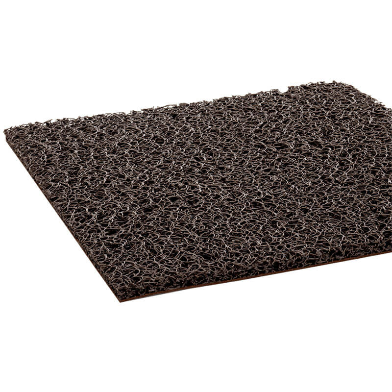 Spaghetti Vinyl-Loop Floor Mat, Brown - 36