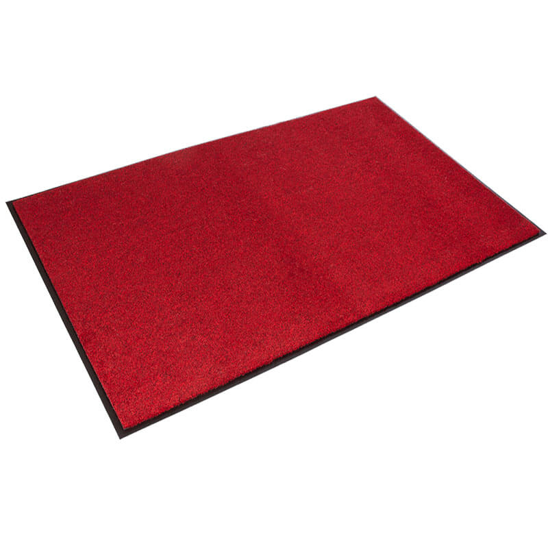 Rely-On Olefin Indoor Wiper Mat, Red/Black - 36