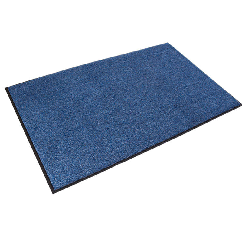 Rely-On Olefin Indoor Wiper Mat, 36 x 60, Blue/Black CROGS35MBL