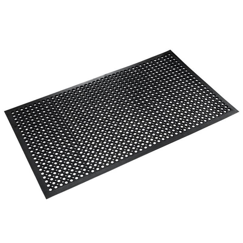 Safewalk Heavy-Duty Anti-Fatigue Drainage Mat, Grease-Proof, 36 x 60, Black CROWSTF35BLA