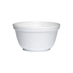 Foam Bowls, 10 Ounces, White, Round DCC10B20