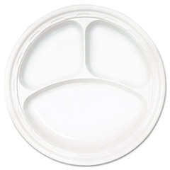 Famous Service Dinnerware, 3-Compartment Plate, 10 1/4