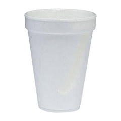Conex Flush Fill Foam Cups, Hot /Cold, 10 oz., White, 40/Bag DCC10FJ8