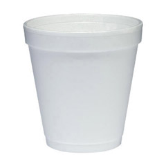 Conex Foam Cups, Hot/Cold, 10 oz., Squat, White, 40/Bag DCC10J12