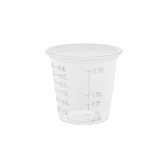 Conex Complements Graduated Plastic Portion/Medicine Cups, 1 1/4 oz, Translucent DCC125PCG