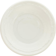 Plastic Bowls, 10-12 Ounces, White, Round, 125/Pack DCC12BWWF