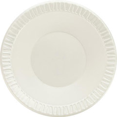 Foam Plastic Bowls, 10-12 Ounces, White, Round, 125/Pack DCC12BWWQ
