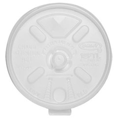 Liftn'Lock Lids, Fits 10-14oz Cups, Translucent DCC12FTLS