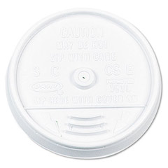 Plastic Lids, for 16 oz. Hot/Cold Foam Cups, Sip-Thru Lid, White DCC16UL