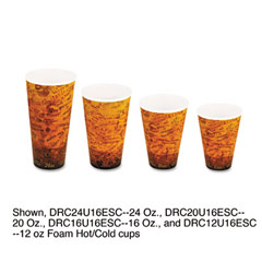 Foam Hot/Cold Cups, 20 oz, Brown/Black DCC20U16ESC