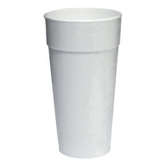 Foam Cups, Hot/Cold, 24 oz., White, 25/Bag DCC24J16