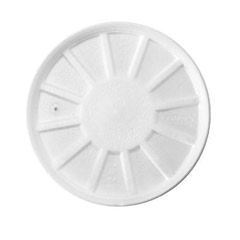Vented Foam Lids, Fits 8-44oz Cups, White DCC32RL
