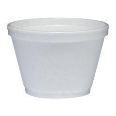 Insulated Foam Food Container, White, 6 oz, 50/Bag DCC6SJ12