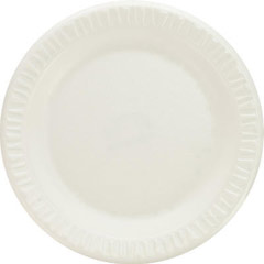 Foam Plastic Plates, 7 Inches, White, Round, 125/Pack DCC7PWQ