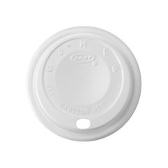 Cappuccino Dome Sipper Lids, Fits 8-10oz Cups, White DCC8EL