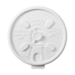 Lift n' Lock Plastic Hot Cup Lids, Fits 6-10oz Cups, White DCC8FTL