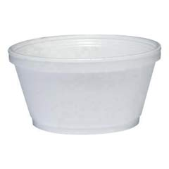 Foam Container, 8 oz, White DCC8SJ20