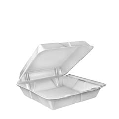 Carryout Food Containers, White, 9w x 9.4d x 3h, 200/Pack DCC90HT1