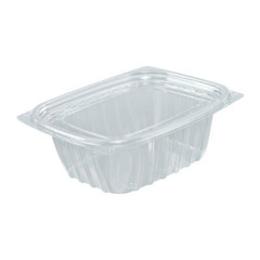 ClearPac Plastic Container with Lid, 5-7/8 x 4-7/8 x 2, Clear, 12 oz, 63/Bag DCCC12DCPR